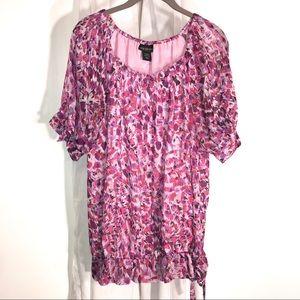 Lane Bryant Multi Floral Top, Size 14/16W